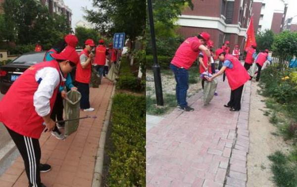 宝平街道推进清洁家园、美丽社区志愿者服务活动